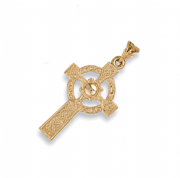 9ct Gold Large Celtic Cross Pendant 4.9g